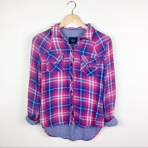 Rails Plaid Button Down Houndstooth Lining XS